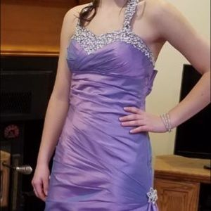 Iridescent purple prom gown. Size 0